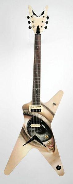 Sas Christian: The Dean Dimebag Darrell Art Tribute Guitar Rig, Cool Guitar, Acoustic Guitar, Unique Guitars, Custom Guitars, Paul Reed Smith, Gretsch, Dimebag Darrell, Musicals