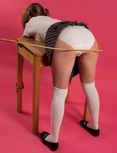 Thanks for schoolgirl in bra panties spanked