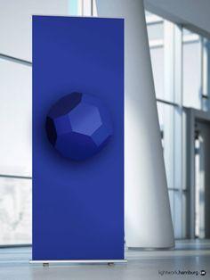 """Lightwork-Raumkonzepte: Banner mit Lichtsprache-Form """"Friendship"""" für freundliches Miteinander (von Lightwork Wittig & Wittig) Freundlich, Form, Cube, Banner, Concept, Language, Projects, Banner Stands, Banners"""