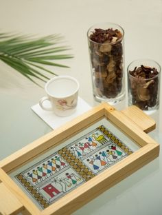 Art saurya small glass tray