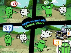 Apple Vs. Android Comic Wars [Cartoon]