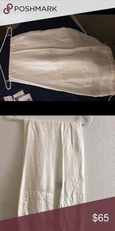 Men's linen pants Men's white linen pants size 32w with tags . Nieman Marcus  Pants Dress