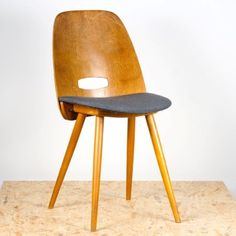 Anonymous; Maple Side Chair by Tatra Nabytok, 1950s.