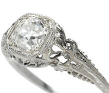 Art deco solitaire diamond ring.  YES.