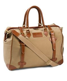 "For our ""Man Table"": Canvas Leather Travel Bag - Brooks Brothers"
