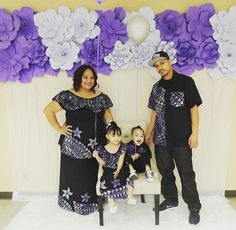 Sis & her family New Dress Pattern, Dress Patterns, Couple Outfits, Family Outfits, Tapas, Samoan Designs, Samoan Dress, Tropical Wedding Dresses, Island Wear