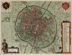 Leuven landkaart, Atlas De Wit, 1698