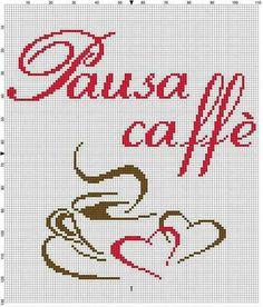 Caffè Cross Stitch Charts, Cross Stitch Embroidery, Cross Stitch Patterns, I Love Coffee, Le Point, Pixel Art, Crafts To Make, Needlepoint, Sewing Crafts