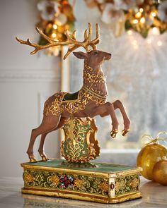 Regimental Mantle Reindeer by Katherine\'s Collection at Horchow.