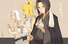 Three of the hottest characters together. Hidan, Deidara, and Itachi