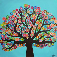 Abstract Tree Gliclee Print  Square Print from by louisemead