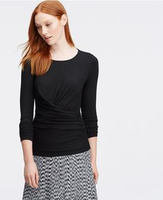 Primary Image of Ruched Long Sleeve Top