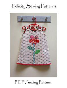 Girls & toddler reversible dress pdf sewing pattern Petal Reversible Dress…