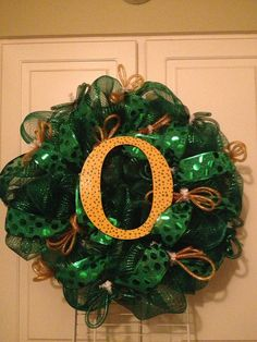 University of Oregon Ducks wreath by CrafterellabyLindsey on Etsy, $55.00