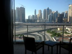 Sheikh Zayed skyline - view from the balconies
