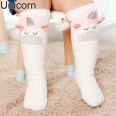 1 pair cartoon animals warm soft baby knee high socks unicorn long anti-slip floor sock with rubber sole for boy girl toddler - Kid Shop Global - Kids & Baby Shop Online - baby & kids clothing, toys for baby & kid Unicorn Baby Shower, Unicorn Kids, Unicorn Birthday, Unicorn Party, 2nd Birthday, Birthday Ideas, Baby Girl Socks, Girls Socks, Toddler Knee High Socks