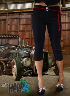 Rockabilly Capri Pants by MissHapp on Etsy, $48.00