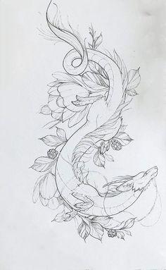 Mini Tattoos, Body Art Tattoos, Small Tattoos, Sleeve Tattoos, Dragon Tattoo Sketch, Dragon Tattoo Designs, Dragon Tattoo Line Art, Dragon Tattoo With Flowers, Tattoo Design Drawings