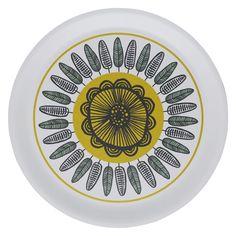 FREDA White flower round tray D37cm