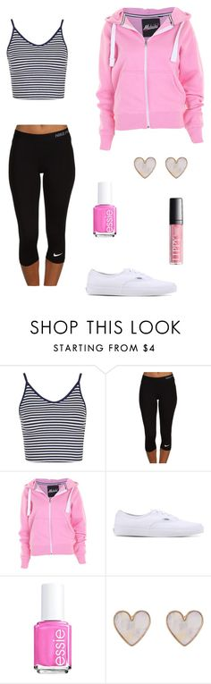 """Chillin out"" by fashionista-diva-983 ❤ liked on Polyvore featuring Topshop, NIKE, Vans, Essie and New Look"
