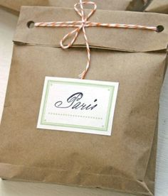 brown paper bag and bakers twine...love this!