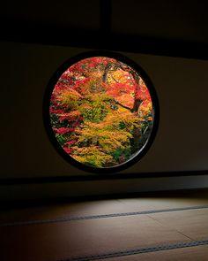 Window of Wisdom 悟りの窓 Genko-an, Kyoto, Japan