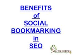 Benefits of social bookmarking in seo By add.riddsnetwork.in