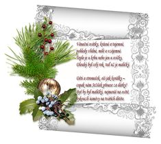 Vánoční přání s říkankou | vánoční blog Christmas Wreaths, Merry Christmas, Xmas, Scrapbook Embellishments, Vector Background, Christian Faith, Scrapbooking Layouts, Origami, Crafts For Kids