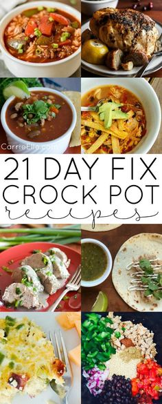 21 Day Fix Crock Pot Recipes (with container counts for every recipe...and this post only includes recipes created for the 21 Day Fix!)