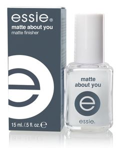 Essie's Matte About You top coat:  A top coat that can turn any nail polish into a matte version of itself