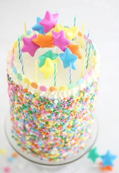 Sprinkle Bakes: Pastel Layer Cake and a Blog Birthday!
