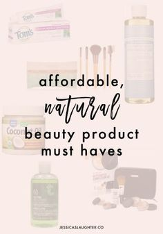 If you're looking to switch to a more natural beauty routine, these products will help you get started!
