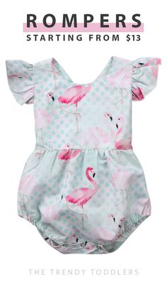 Up to 70% off + free shipping! SHOP super comfy and cute baby rompers at thetrendytoddlers.com