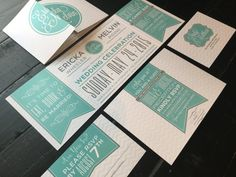 Custom Fold Wedding Invitation by TheDesignBrewery on Etsy