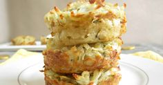 Recipe for potato pancakes baked in a muffin tin.