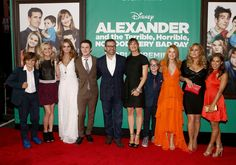 #JenniferGarner, #SteveCarell, Bella Thorne, Kerris Dorsey, Dylan Minnette, Ed Oxenbould, Lincoln Melcher, Sidney Fullmer, Jennifer Coolidge and Toni Trucks are like one big family at the Alexander and the Terrible Horrible, No Good, #VeryBadDay' Premiere!
