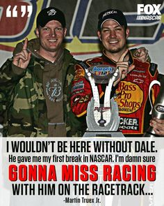 Martin Truex jr on Dale Earnhardt jr. Amy Earnhardt, Nascar Winner, Nascar Race Cars, Nascar Sprint, Ryan Blaney, Racing Quotes, Martin Truex Jr, My Champion, Chase Elliott