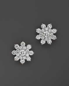Bloomingdale's Diamond Cluster Star Stud Earrings in White Gold, ct. - Exclusive Jewelry & Accessories - Fine Jewelry - All Fine Jewelry - Bloomingdale's Diamond Earrings Indian, Diamond Earing, Platinum Earrings, Diamond Jewellery, Gold Jewelry, Jewelry Accessories, Fine Jewelry, Piercings, Diamond Tops
