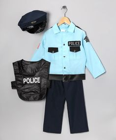 Take a look at this Blue Deluxe Police Officer Dress-Up Set - Kids by Let's Play Pretend: Kids' Apparel & Toys on #zulily today!