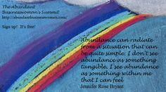 Abundance Quote, Jennifer Rose Bryant From the Abundant Businesswoman's Summit