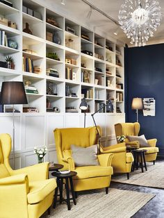 lounge coming along nicely dulux breton blue and ikea yellow strandmon armchair love the. Black Bedroom Furniture Sets. Home Design Ideas