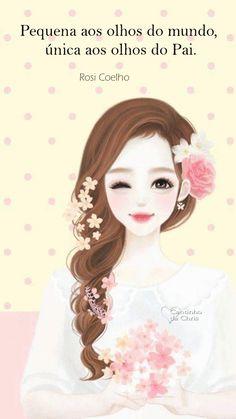 Cartoon Girl Images, Girl Cartoon, Ballerina Art, Pink Stars, Daughter Of God, Christian Art, Girls Image, Cute Art, Positive Quotes