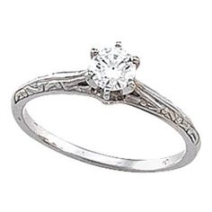 Cathedral Engagement Ring Mounting & Band | Stuller