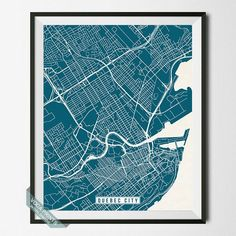 Winnipeg canada city prints map art world cities map prints quebec city canada street map print by voca prints modern street map art poster gumiabroncs Image collections