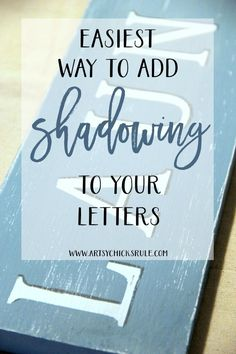 EASIEST Way to Add SHADOWS to letters!! Gotta do this!