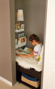 Trendy Small Closet Organization For Kids Reading Nooks Ideas Reading Nook Closet, Closet Nook, Reading Nook Kids, Kid Closet, Closet Fort For Kids, Kids Reading Corners, Closet Small, Closet Ideas, Little Girl Closet
