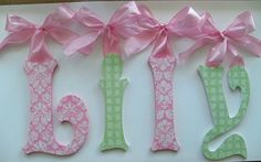 Baby Nursery Wall Letters Custom Boutique by acharmedlifeinc, $15.50