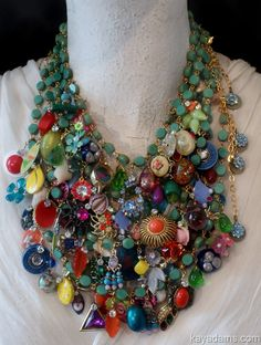 vintage piece necklace