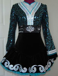 Irish Dance Solo Dress Costume by KDSF -front