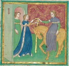 Albrecht : Jüngerer Titurel (2. Teil, ab Str. 2822) 1. Hälfte 15. Jh. Cgm 8470 Folio 322